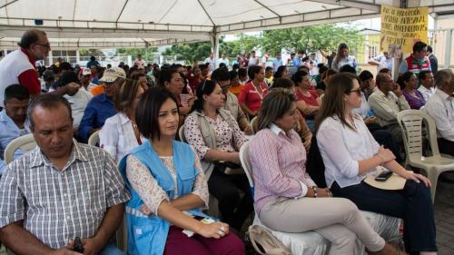 Evento de Lanzamiento del Proyecto de Post Emergencia en San Vicente
