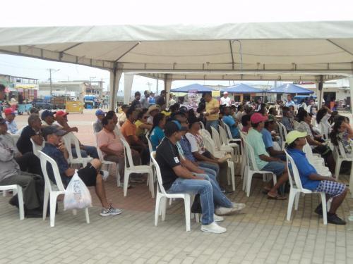 Beneficiarios asistieron al evento de entrega de los kits de artes de pesca artesanal