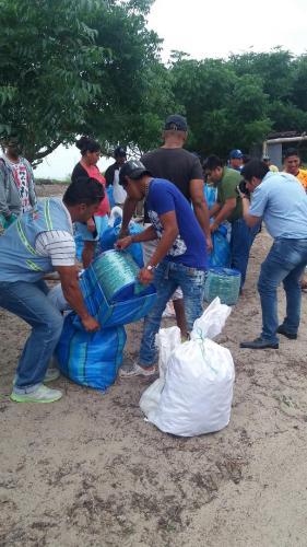 Entrega artes de pesca Puerto  Cabuyal